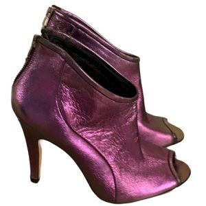 Fornarina Iridescent Leather Booties - Size 38